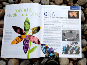 Studio Tour Article, Our Innisfil 2016 Magazine, Metroland media