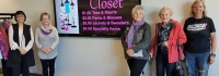 my girlfriends closet, used clothing sale, friends of the Innisfil Public Library, Alcona, ideaLAB & Library