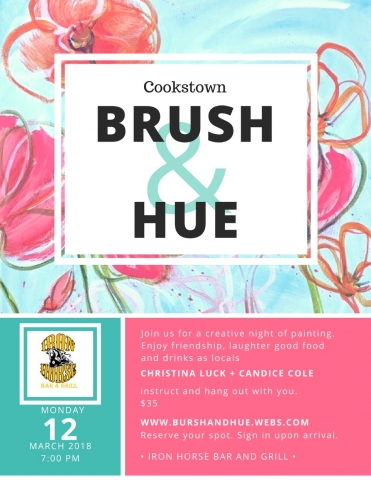 Brush & Hue Painting, Cookstown, Christina Luck, Candice Cole, Iron Horse Bar & Grill