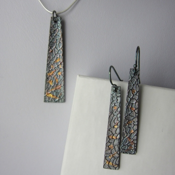 Metal Keys Designs, Innisfil, Keum Boo Pendant & Earrings