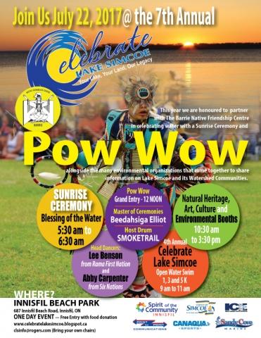 Celebrate lake Simcoe Pow Wow, Canaqua, Sunrise Ceremony, Barrie Native Friendship Centre, Watershed, Smoketrail, Lee Benson, Abby Carpenter,Innisfil Beach Park,