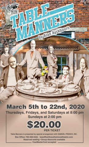 South Simcoe Theatre, Table Manner, Comedy, Innisfil Entertainment, Theatre,