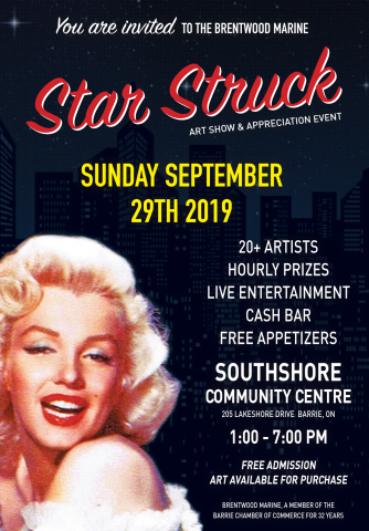 Star Struck Art Show and Appreciation Event, Culture Days, Barrie Ontario, SouthShore Community Centre, Free Admission, Art Show,