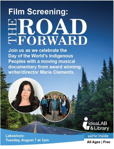 The Road Forward, Film, Documentary, Marie Clements, writer director, Indigenous People, Innisfil, IdeaLAB & LIbrary, Alcona, Lakeshore Branch