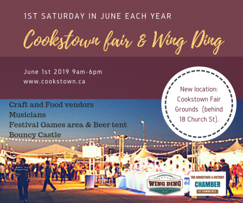 Cookstown Wing Ding 2019, Cookstown Fair Grounds, Yard Sales, Festival,