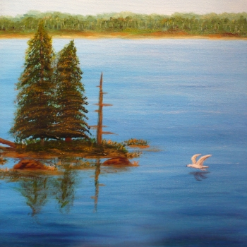 Monika Shepherdson, artist, Innisfil, IACHC, painting, Sandy Cove, Innisfil Studio Tour