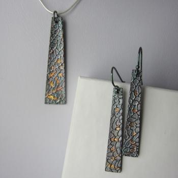Metal Keys Designs, Innisfil, Keum Boo Pendant & Earrings